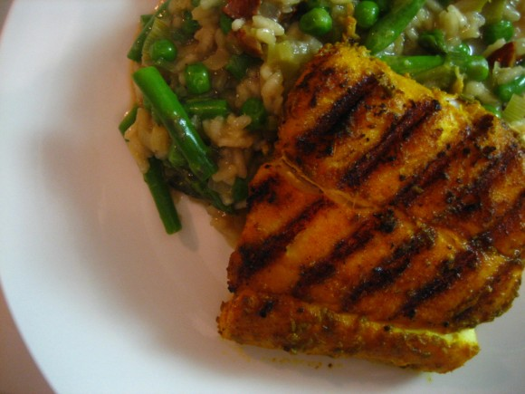 Grilled Indian-Spiced Halibut