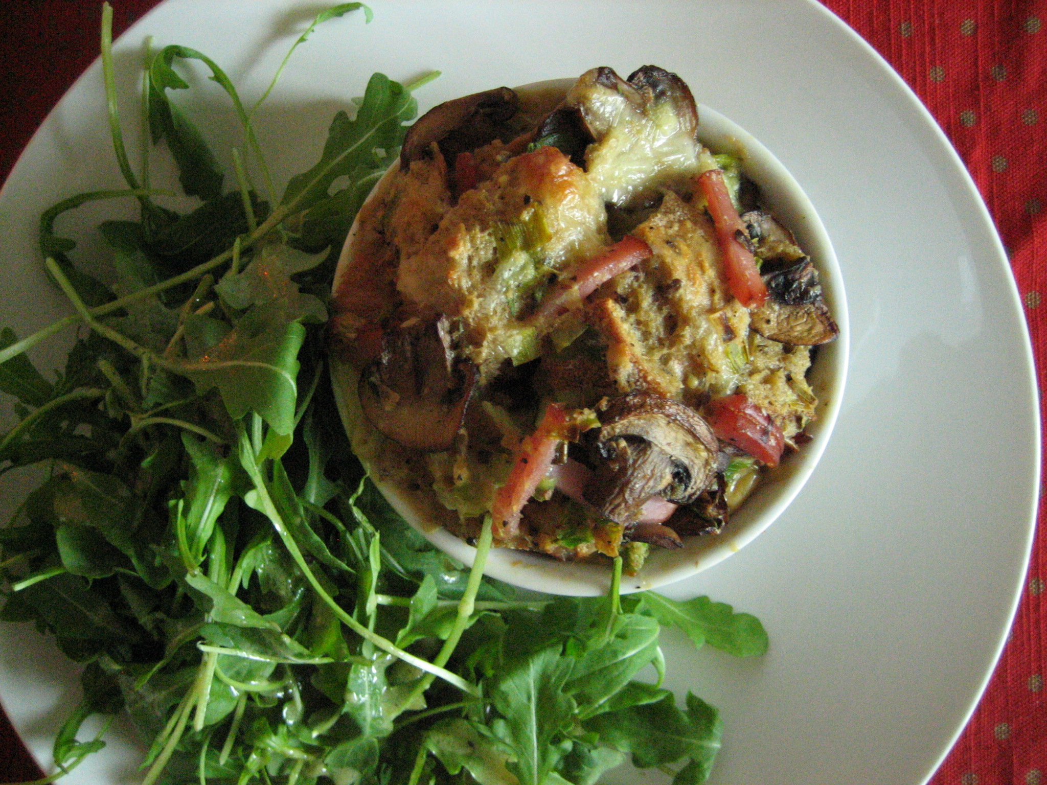 Savory Bread Pudding With Bacon And Greens Recipes — Dishmaps