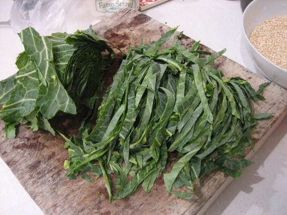 Sliced Collards